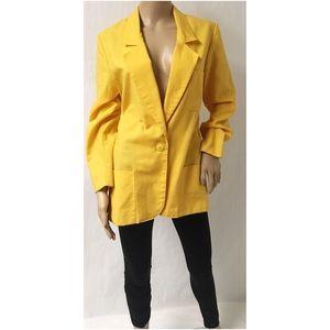 Vintage Yellow Blazer Size 12